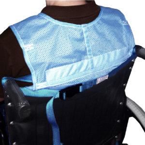 Safety Vest Shoulder Strap in use