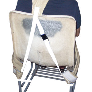 Shower Chair Shoulder Strap in use