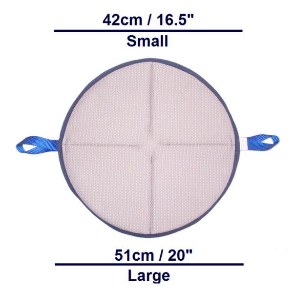 Handi-Soft Turn Pad dimensions