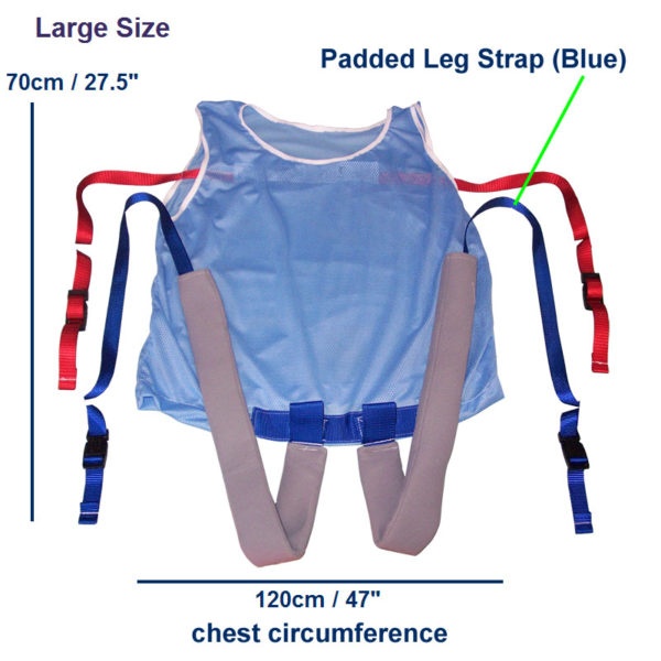 Safety Vest with Leg Straps – Vented dimensions