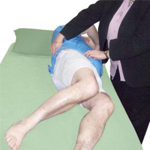 One Piece Underwear with Leg Zip in use