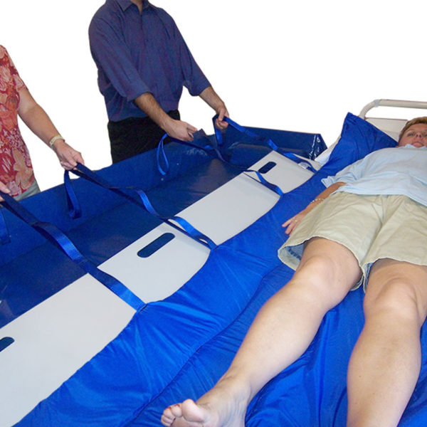 Slide Board Trolley with Hand Slots 190cm in use