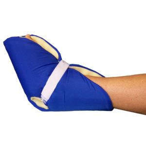heel and elbow pad covered