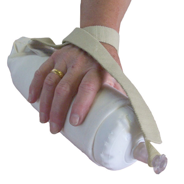 Hand Blow Up Pad Kit in use