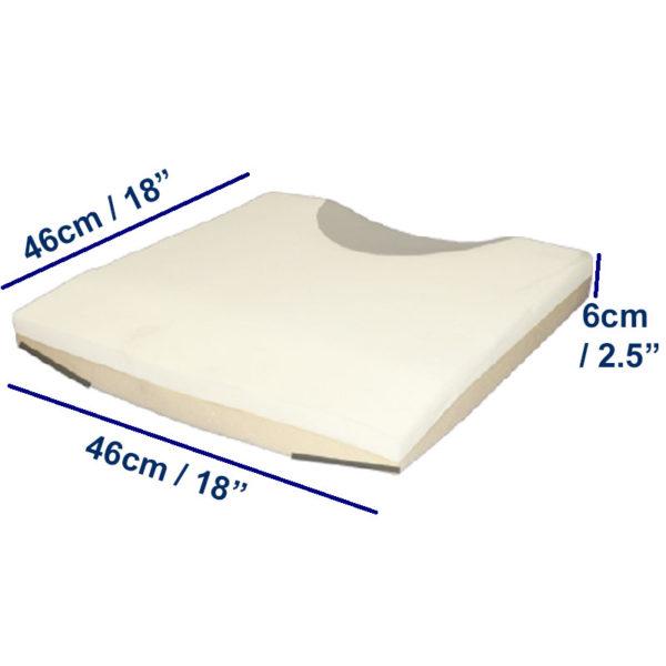 Sacral Cushion dimensions