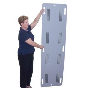 slide board trolley - hand slots