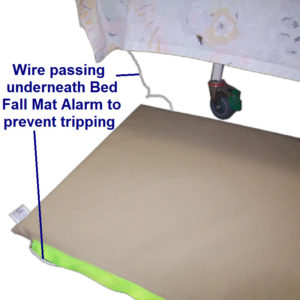 bed fall mat alarm