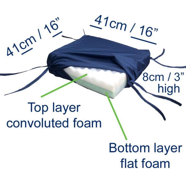 Pressure Relief Cushion dimensions