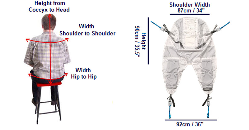 RPH Keyhole Dex Sling Double Amputee dims