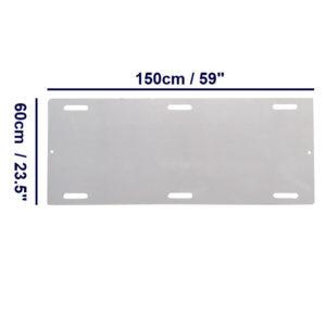 Slide Board – Trolley Hand Slots – 150cm Long dimensions