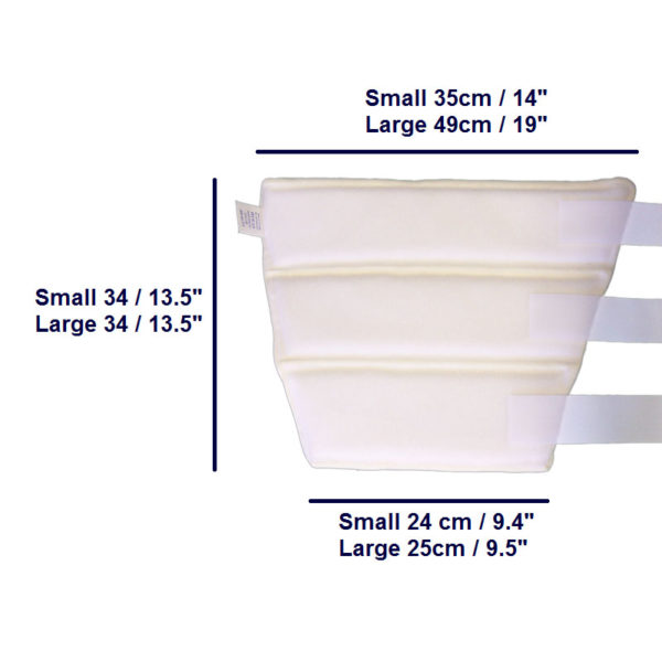 Soft Arm Splint size chart