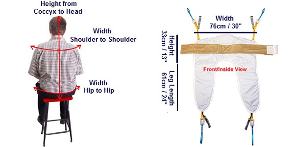 rph keyhole access sling dimensions
