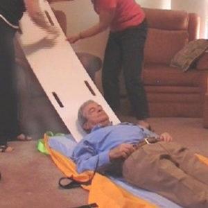 ResQslide Board Chair Strap Kit in use