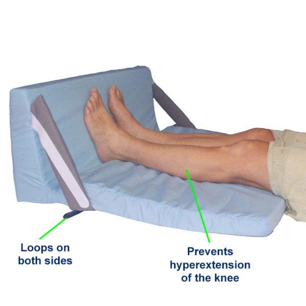 Heel & Footdrop Bed Support in use
