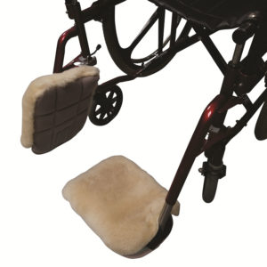 Sheepskin Velour Footplate Covers in use