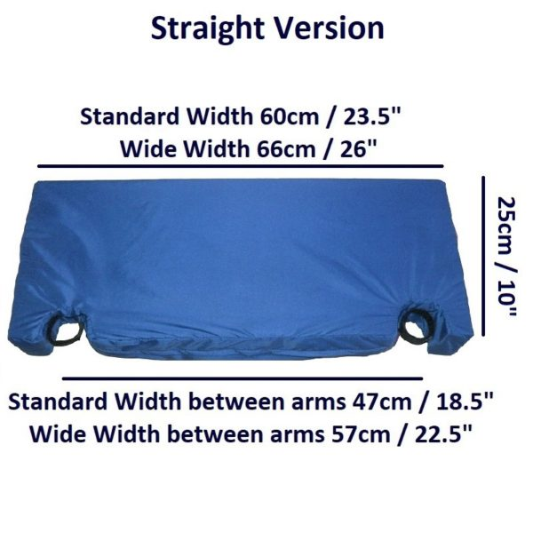 Arm Wheelchair Lap Cushion – Straight dims