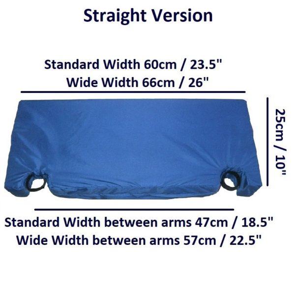 Arm Wheelchair Lap Cushion – Straight dims