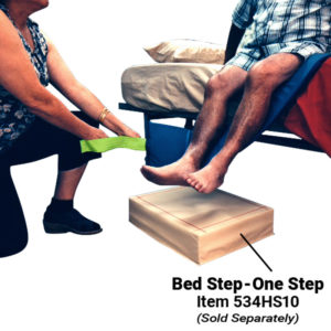 Bed Sliding Strap (Padded) in use