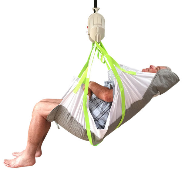 Hammock with Chair Pad Sling in use
