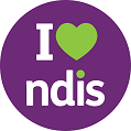 I Heart NDIS - website button- small size