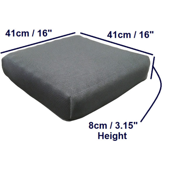 Pressure Relief Cushion – Airmesh Cover dimensions