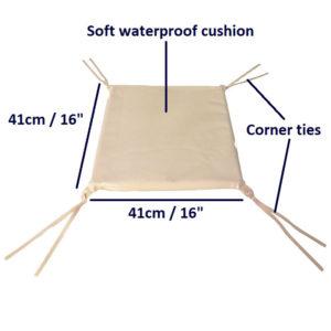 Shower Chair Back Cushion dimensions
