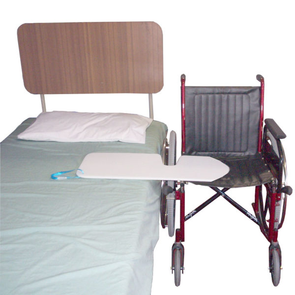 Slide Board Wheelchair Cut Out in use