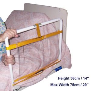 1 – Bed Rail Protector for Turning – Half Rail – dims