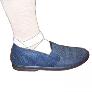 Non-Slip Bed Slipper for Compression Stockings