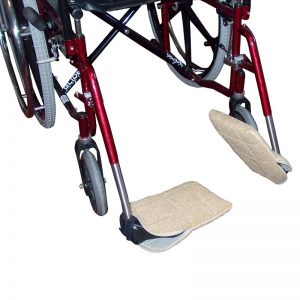 Velour Wheelchair Footplate Covers