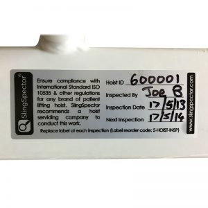Hoist Inspection Label (20 Pack)