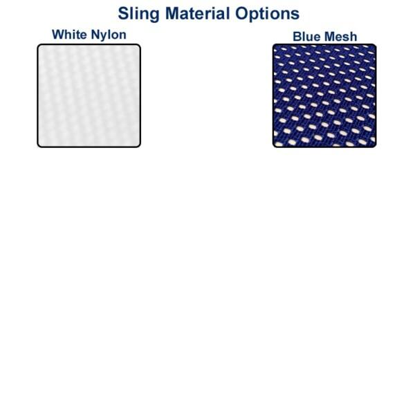White Nylon & Blue Mesh