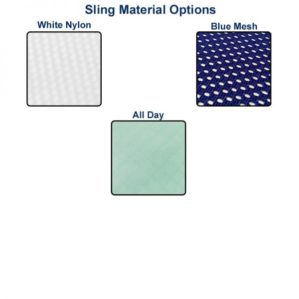 White Nylon, Blue Mesh All Day Sling Material