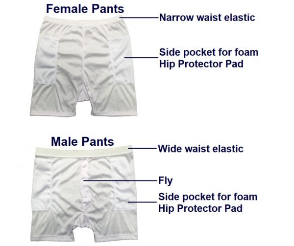 Hip Protectors - Individual Standard Pants and/or Pads