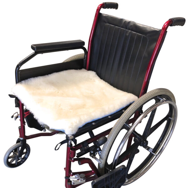 wool wheelchair pad